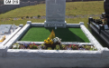 Gavins Memorials, Ballyhaunis, Co Mayo, Ireland.  Light Grey Natural Finish Boulder - GM 019